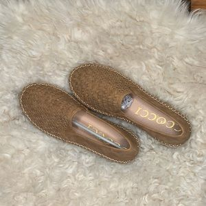 NIB leather espadrille flats